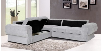 Knightbridge Corner Sofa Bed Silver