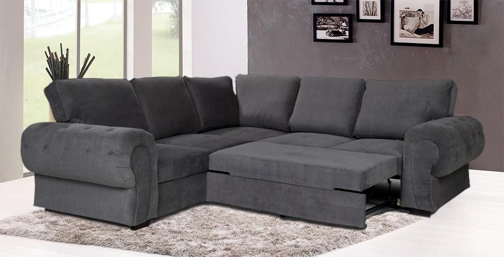 Knightbridge Full Corner Sofa Bed Graphite