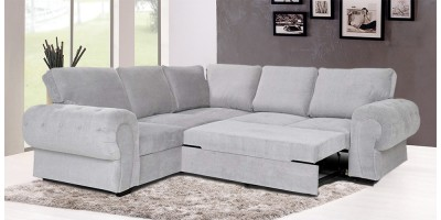 Knightbridge Full Corner Sofa Bed Silver