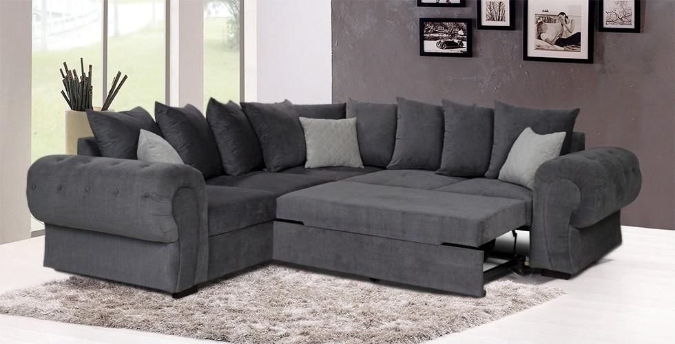 Knightbridge Scatter Corner Sofa Bed Graphite