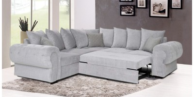 Knightbridge Scatter Corner Sofa Bed Silver