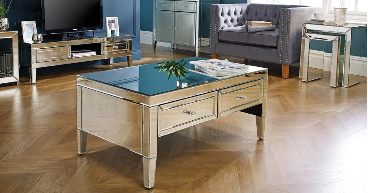 Italia Mirrored Coffee Table