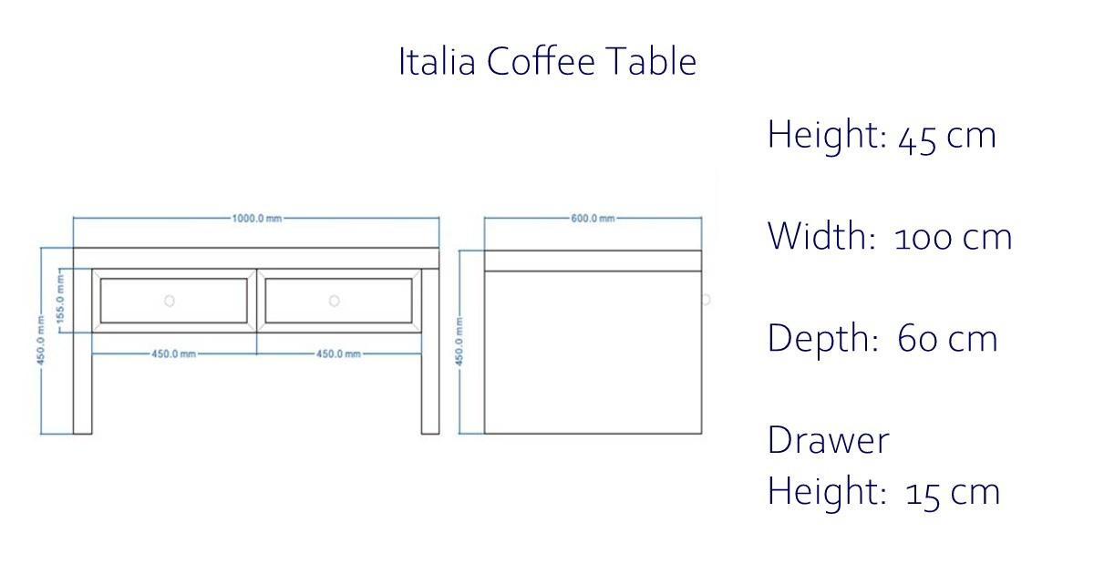 Italia Mirrored Coffee Table