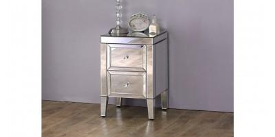Italia 2 Drawer Bedside Cabinet