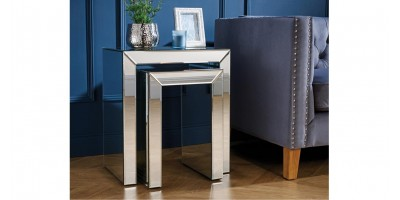 Italia Mirrored Nest of Tables