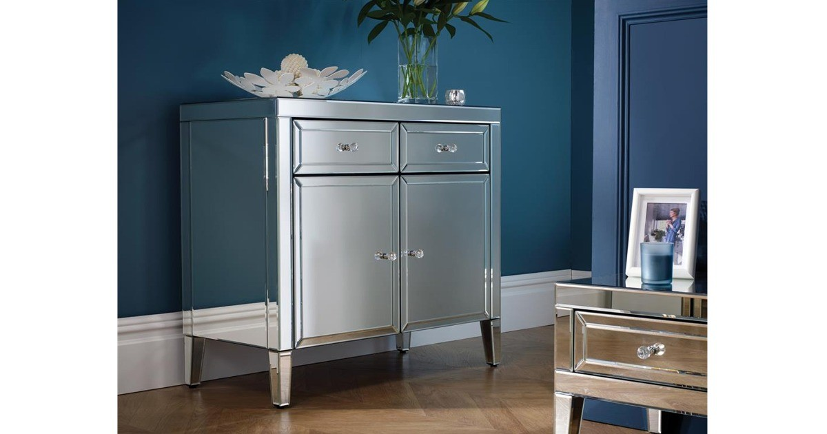 Italia Mirrored Sideboard