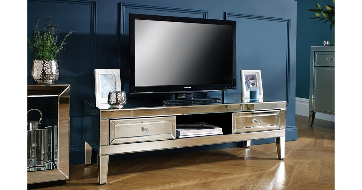 Italia Mirrored TV Cabinet
