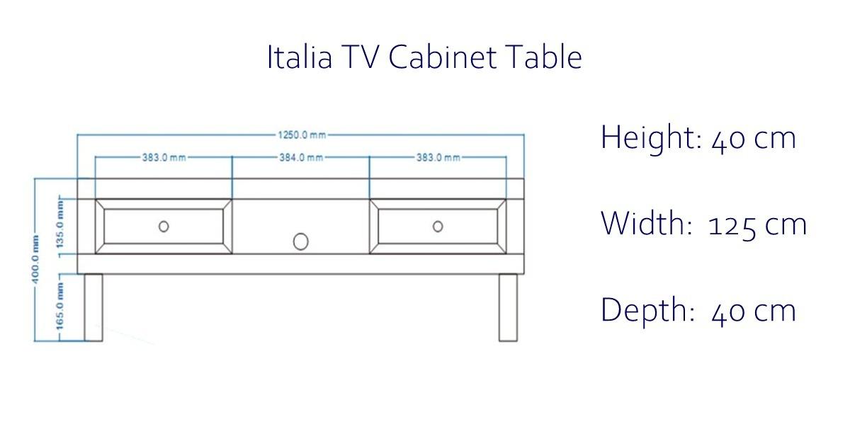 Italia Mirrored TV Cabinet