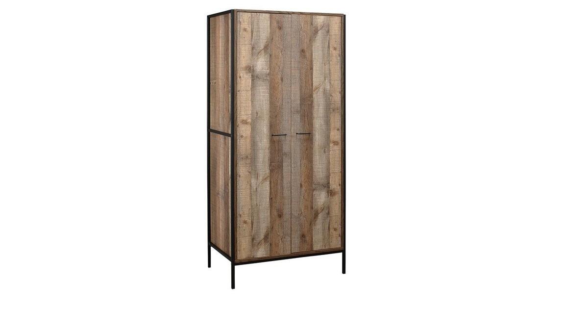 Sloane Rustic 2 Door Wardrobe