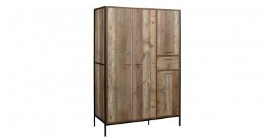 Sloane Rustic 4 Door Wardrobe