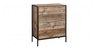 Sloane Rustic 4 Drawer Chest
