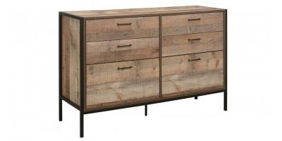Sloane Rustic 6 Drawer Chest