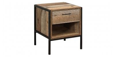 Sloane Rustic 1 Drawer Bedside Cabinet