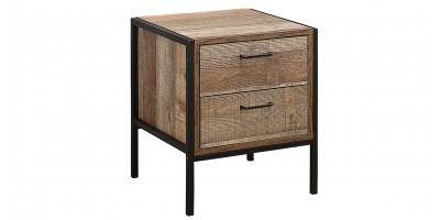 Sloane Rustic 2 Drawer Bedside Cabinet