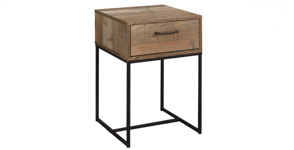 Sloane Rustic 1 Drawer Narrow Bedside Cabinet