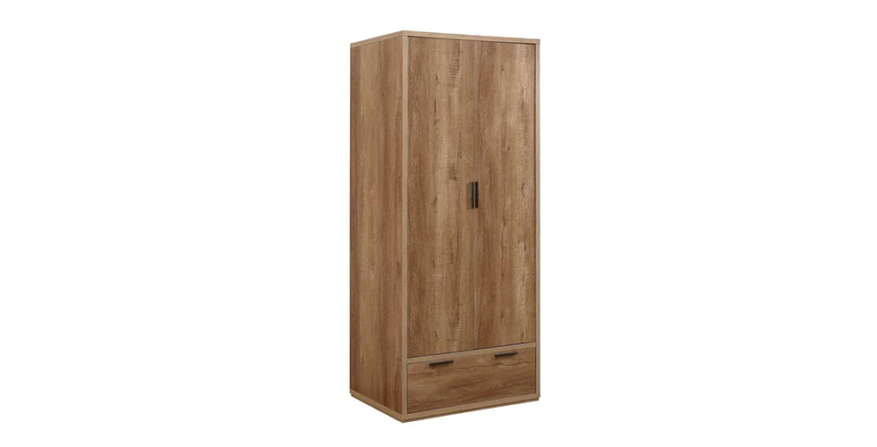 Stockwell 2 Door + 1 Drawer Wardrobe