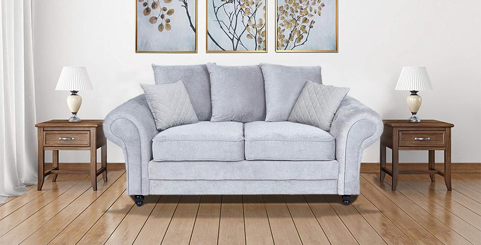 Amalfi 2 Seater Sofa Silver