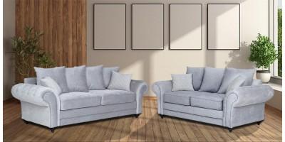 Amalfi 3+2 Seater Sofa Silver