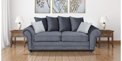 Amalfi 3 Seater Sofa Graphite
