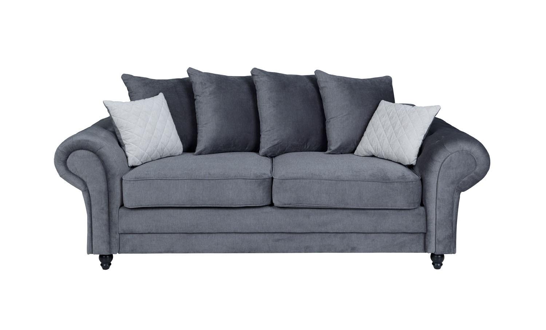Amalfi 3 Seater Sofa Graphite