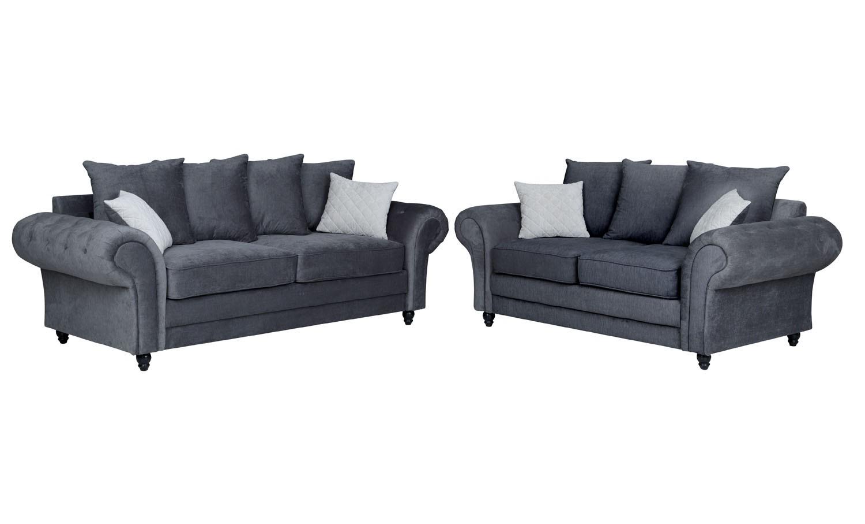 Amalfi 3+2 Seater Sofa Graphite