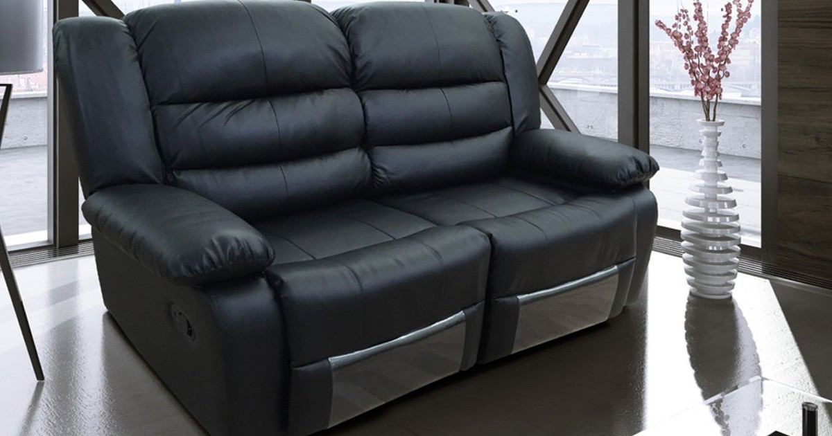 Lazy-B 2 Seater Recliner Black