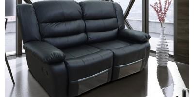 Lazy-B 2 Seater Recliner Black