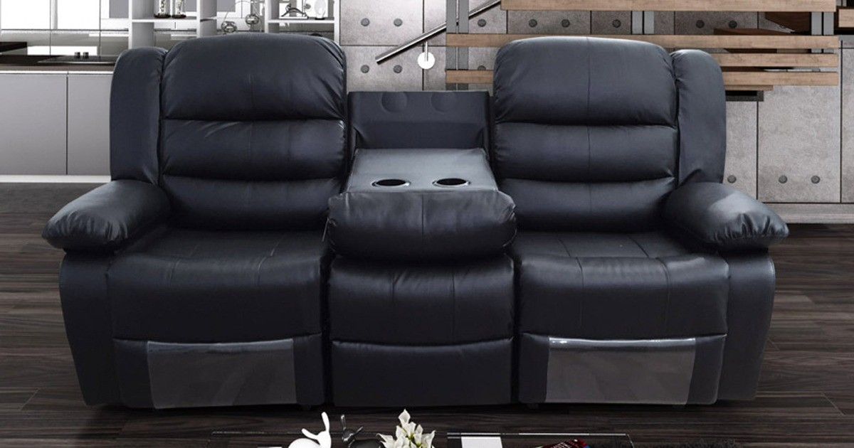 Lazy-B 3 Seater Recliner Black