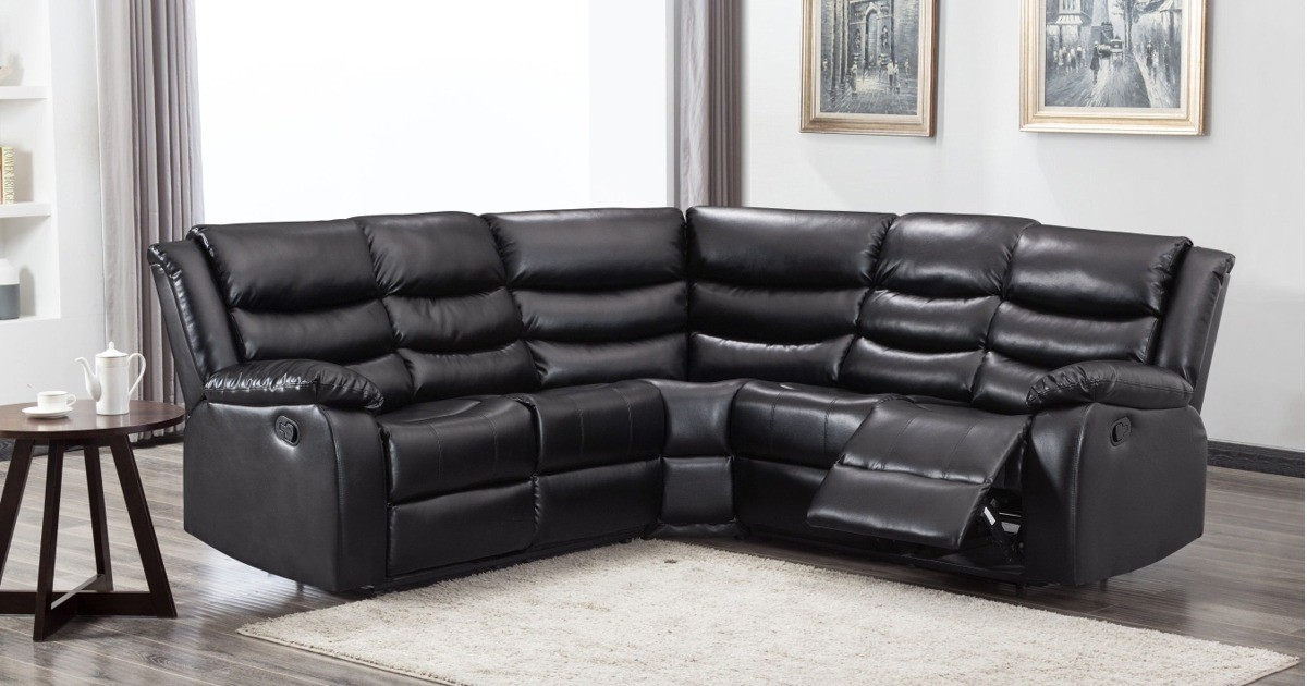 Lazy-B Corner Recliner Black