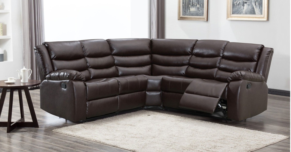 Lazy-B Corner Recliner Brown