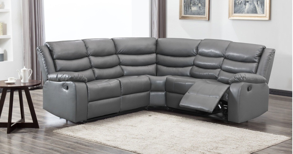 Lazy-B Corner Recliner Grey