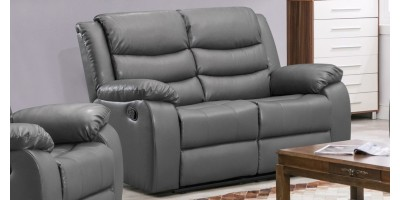Lazy-B 2 Seater Recliner Grey