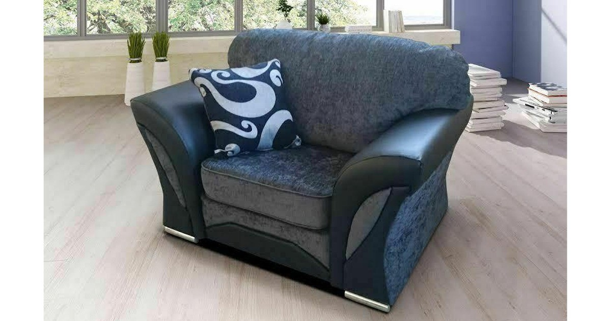 Farrow Armchair Black-Grey