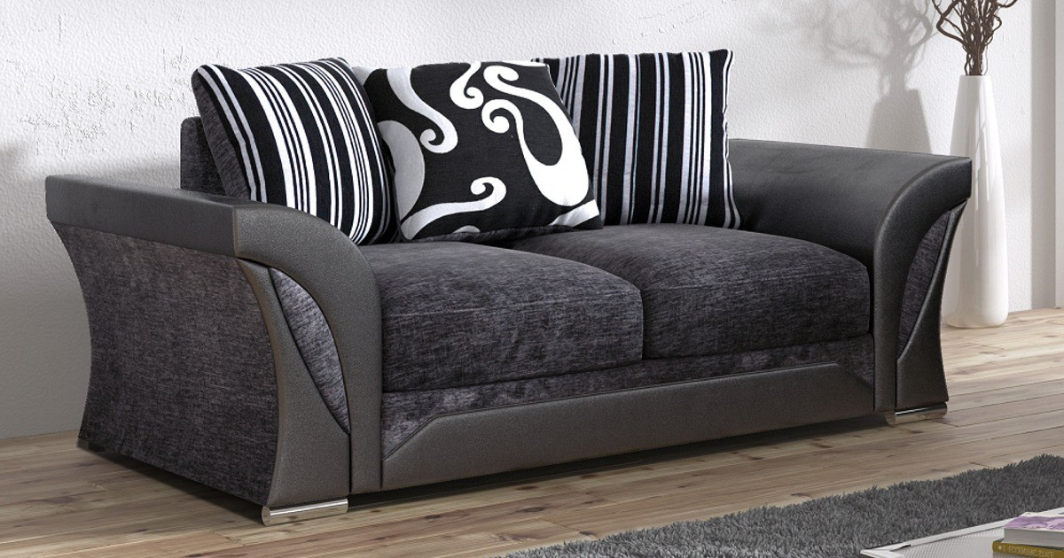 Farrow 2 Seater Black-Grey