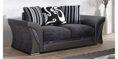 Farrow 2 Seater Black-Grey