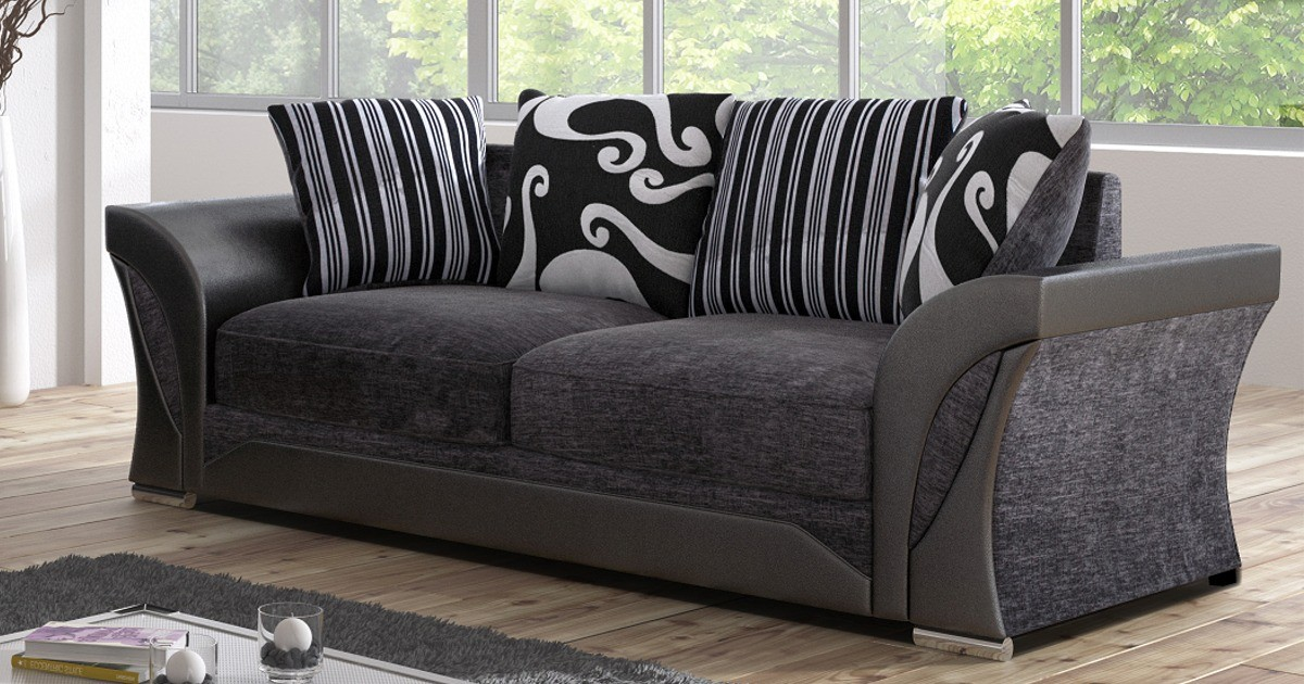 Farrow 3 Seater Black-Grey