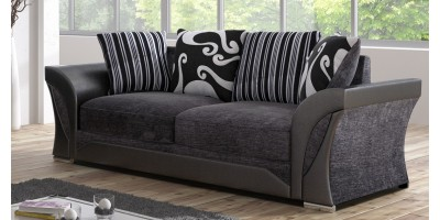 Farrow 3 Seater Black-Grey