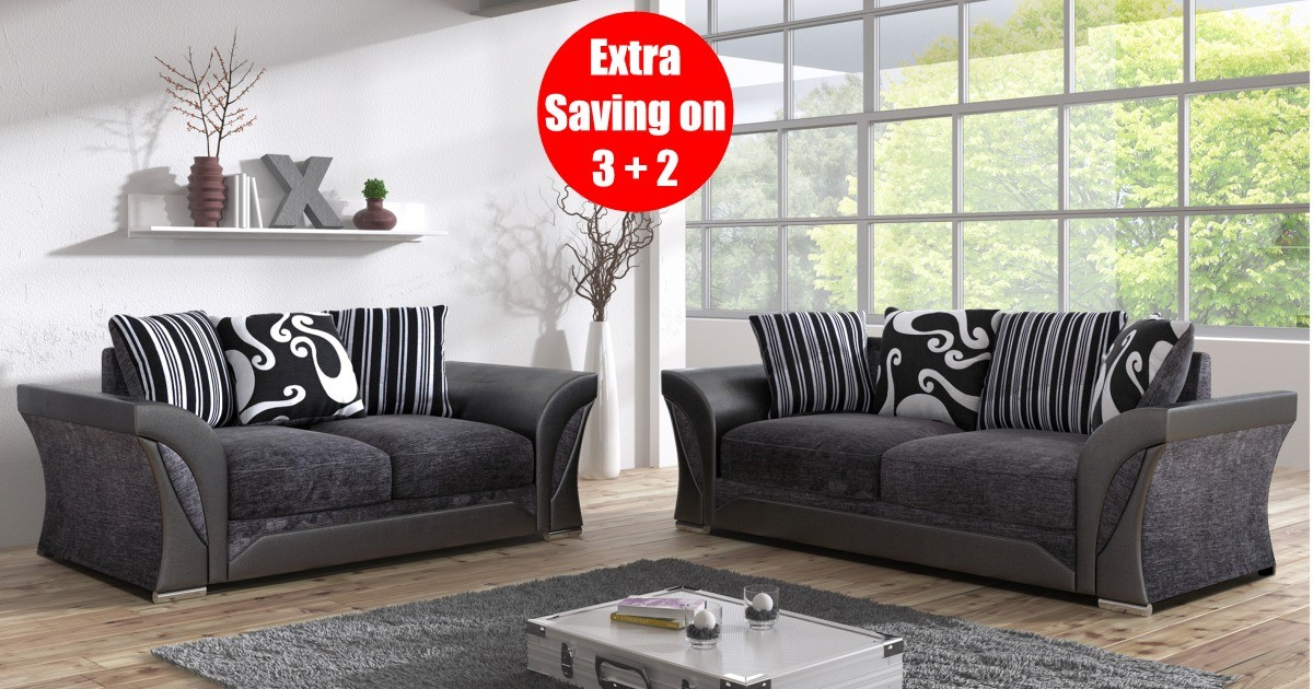 Farrow 3+2 Seater Black-Grey