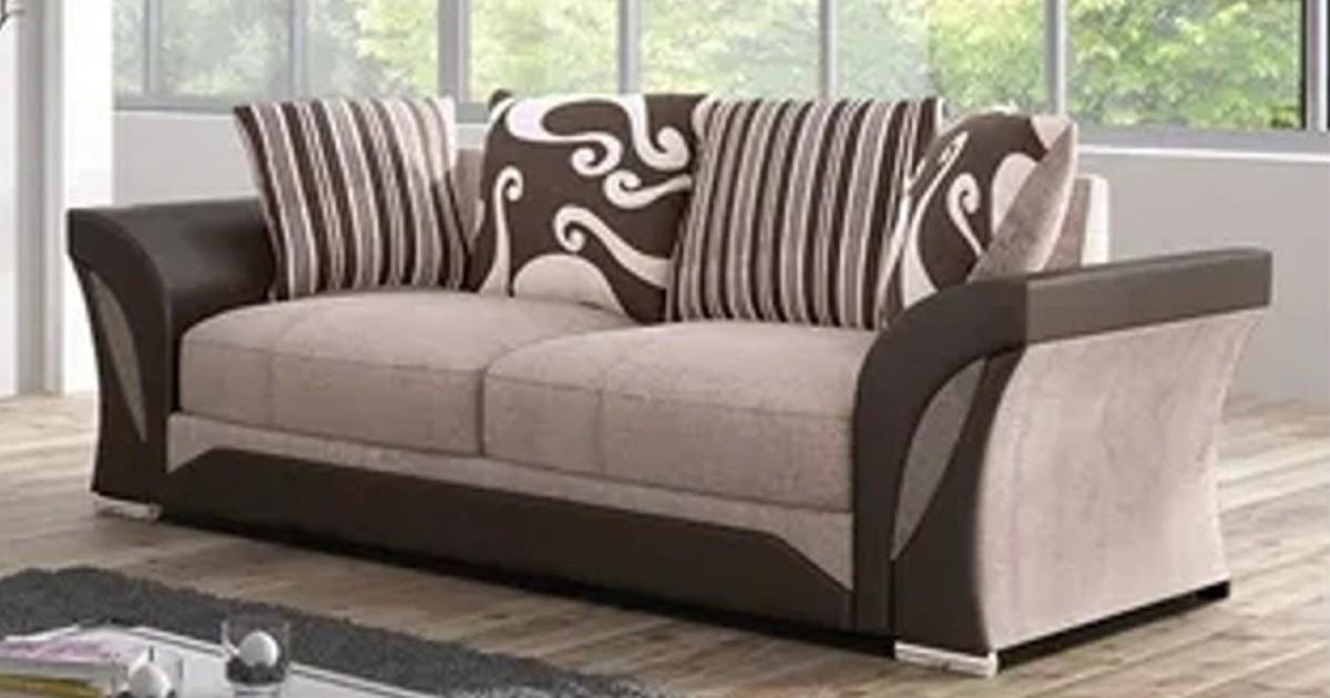 Farrow 3 Seater Brown-Beige