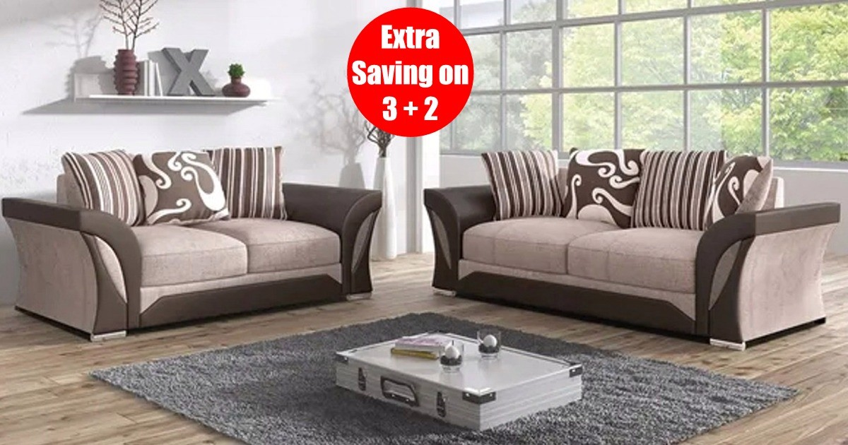 Farrow 3+2 Seater Brown-Beige