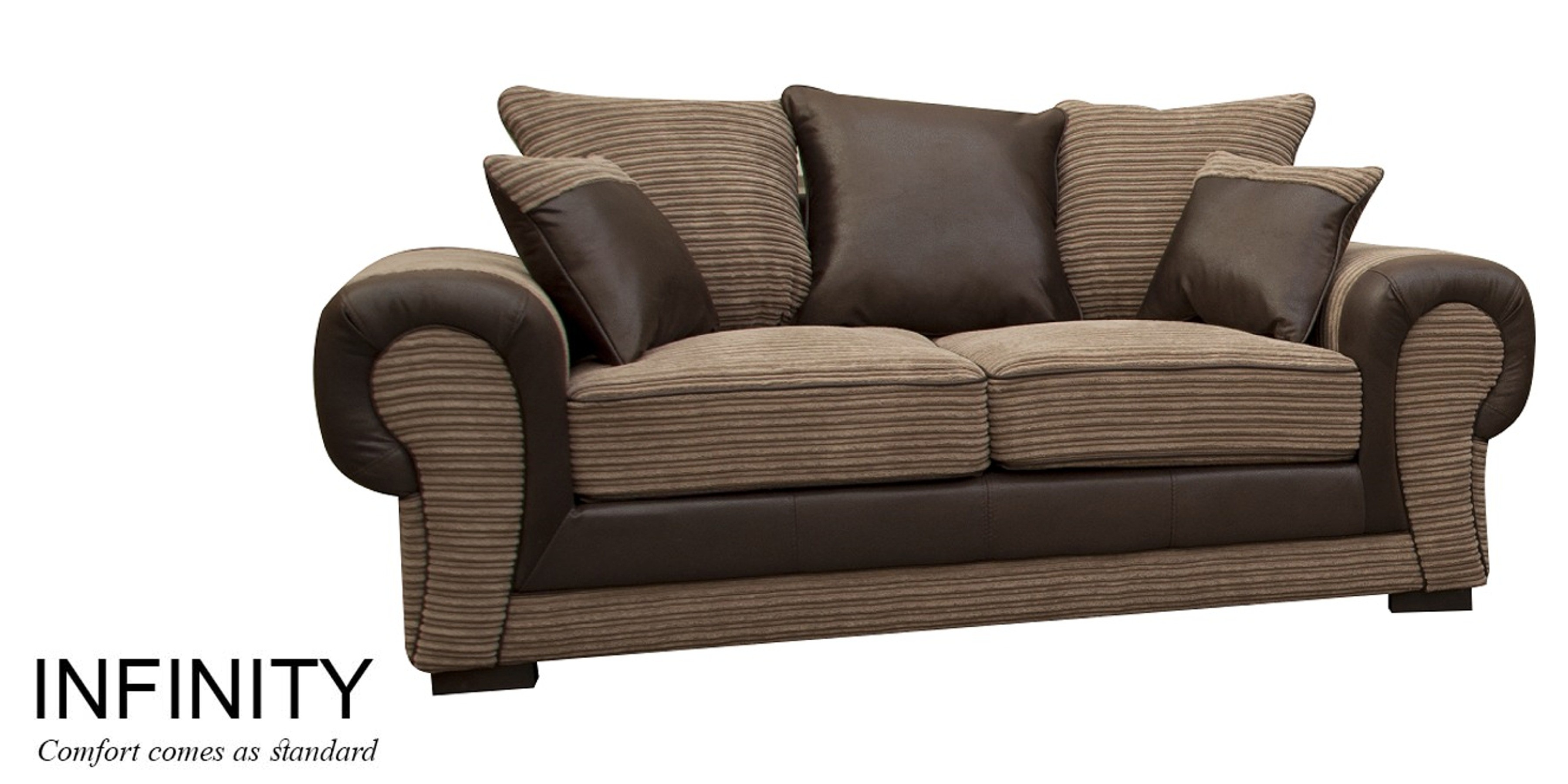 Infinity 2 Seater Scatter Back Coffee Fabric Sofa
