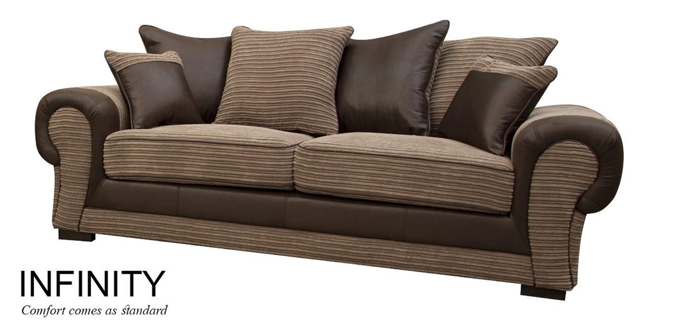 Infinity 3 Seater Scatter Back Sofa Coffee