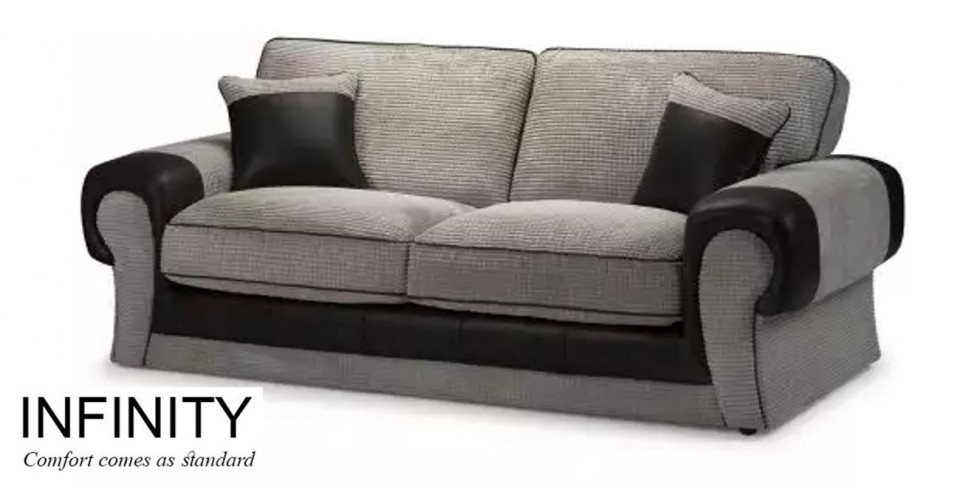 Infinity 3 Seater Sofa Grey
