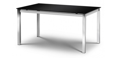 Tempo Black Glass Dining Table