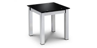 Tempo Black Glass Lamp Table