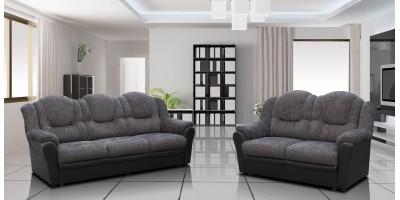 Arizona 3+2 Seater Sofa Black and Grey