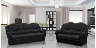 Arizona 3+2 Seater Sofa Black PU