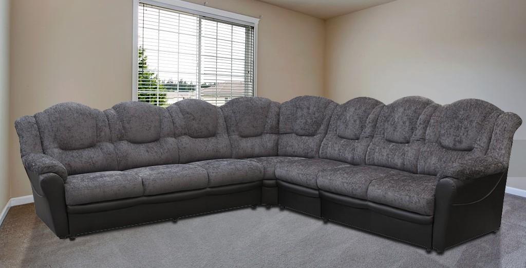 Arizona Fabric 3CR3 Right Corner Black and Grey