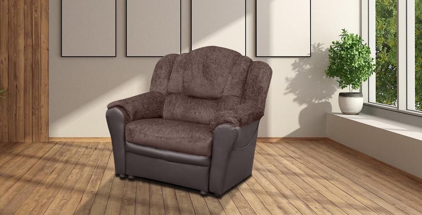 Arizona Fabric Armchair Brown