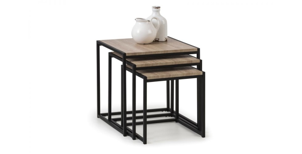 Tribeca Nest of Tables - Black / Sonoma Oak